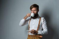 Jeune homme bel avec une barbe image libre de droits