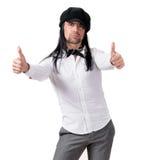 Jeune homme bel dans le chapeau moderne Photographie stock libre de droits