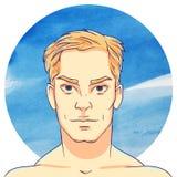 Jeune homme-blond avec les cheveux courts illustration de vecteur