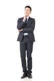 Jeune homme confus d'affaires image stock