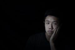 jeune homme déprimé Photographie stock