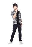 Jeune homme d'étudiant posant la tranquillité photo libre de droits