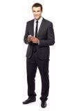 Jeune homme d'affaires Photo stock
