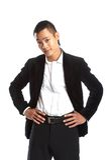 Jeune homme d'affaires asiatique Images stock