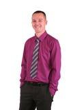 Jeune homme d'affaires avec un grand sourire photographie stock libre de droits