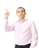 Jeune homme d'affaires ayant une idée Photographie stock