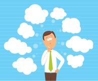 Homme d'affaires considérant des options illustration de vecteur