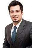 Jeune homme d'affaires dans le procès et la relation étroite Photos libres de droits
