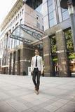 Jeune homme d'affaires dans le secteur financier Photos libres de droits