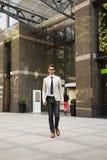 Jeune homme d'affaires dans le secteur financier Photo libre de droits