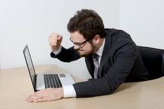 Jeune homme d'affaires fâché Image libre de droits