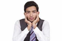 Jeune homme d'affaires indien photos stock