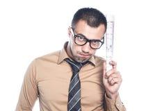 Jeune homme d'affaires inquiété Photographie stock libre de droits