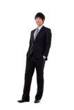 Jeune homme d'affaires nouvelles des employés Photo stock