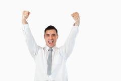Jeune homme d'affaires réussi Photo stock