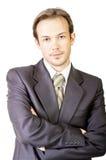 Jeune homme d'affaires sérieux Photographie stock libre de droits