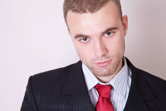 Jeune homme d'affaires sure de se Photographie stock