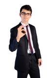 Jeune homme d'isolement d'affaires Image stock