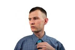 Jeune homme dans la chemise Photo libre de droits