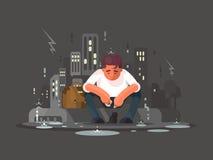 Jeune homme dans la dépression illustration libre de droits