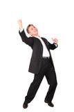 Jeune homme dans la danse de procès Image stock
