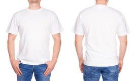 Jeune homme dans le T-shirt blanc images libres de droits