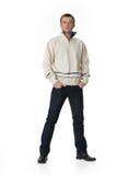 Jeune homme dans le vêtement à la mode Images stock