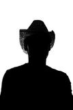 Jeune homme dans un chapeau de paille - silhouette Image libre de droits