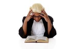 Jeune homme de juge d'Afro-américain. photos stock