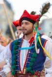Jeune homme de Pologne dans le costume traditionnel Photographie stock libre de droits