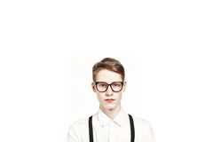 Jeune homme de sérénité en verres photo libre de droits