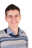 Jeune homme de sourire d'isolement images stock
