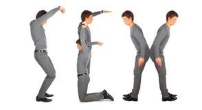 Jeune homme effectuant le mot SEXE, collage Photographie stock libre de droits