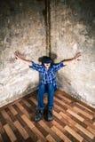 Jeune homme en verres de VR Photos libres de droits