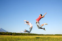 Jeune homme et femme Photo libre de droits