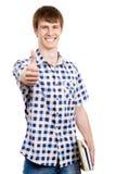 Jeune homme faisant le signe correct Images stock