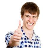 Jeune homme faisant le signe correct Photographie stock libre de droits