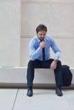 Jeune homme frustrant d'affaires Photographie stock