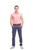 Jeune homme gai dans l'équipement occasionnel Images stock