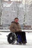 Jeune homme handicapé Image libre de droits