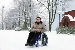 Jeune homme handicapé Images stock