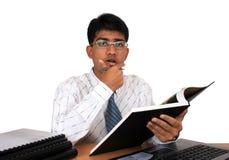 Jeune homme indien d'affaires Image stock