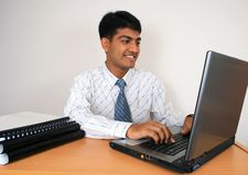 Jeune homme indien d'affaires Photo libre de droits