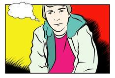 Jeune homme. JPG et ENV illustration stock