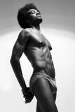 Jeune homme musculaire caucasien sportif beau et de santé Photo blanche noire Photo libre de droits