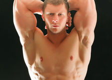 Jeune homme musculaire en bonne santé Photographie stock libre de droits