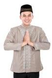 Jeune homme musulman gai Image libre de droits