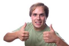 Jeune homme occasionnel confiant Images stock