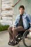 Jeune homme paralysé Images stock