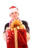 Jeune homme Santa Photos stock